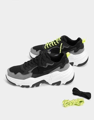 Men S Perforated Sneakers Shoes Bershka United States Sneakers Sneakers Men Fashion Shoes Sneakers