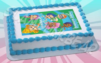 Bubble Guppies Edible Image Topper Edible Cake Images Custom Photo Picture Icing on eBay!