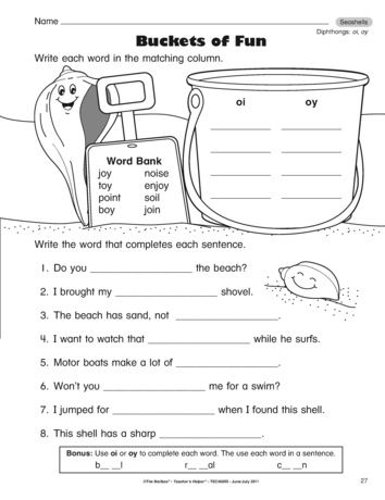 A Phonics Reading Foundations Worksheet For The Diphthongs Oi And Oy Word Skills Phonics Worksheets Phonics Oy oi worksheets