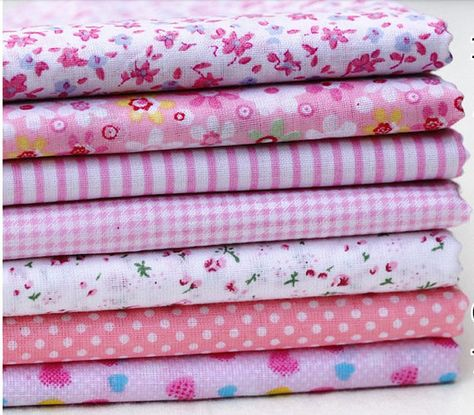 50cm x 40cm Dainty Pink Fabric Remnant 100/% Cotton