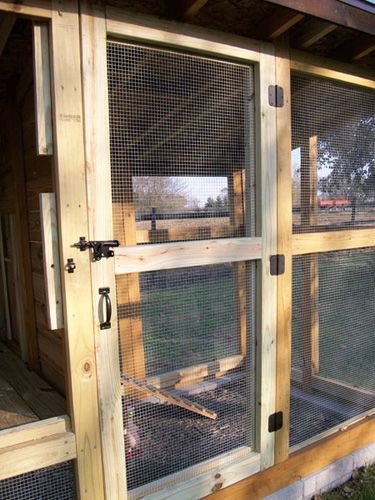 Chicken Coop Screen Door Chicken House Chickens Backyard Chicken Coop