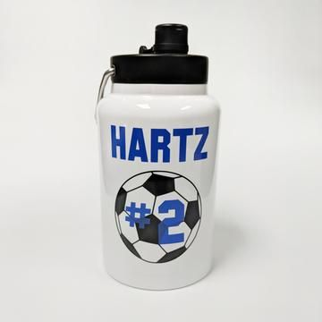 Soccer RTIC Stainless Steel Half Gallon Jug | Sports Parent