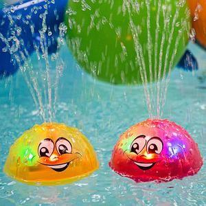 Baby Kids Waterproof Diamond Shower Tub LED Light Flashing Bathing Toys