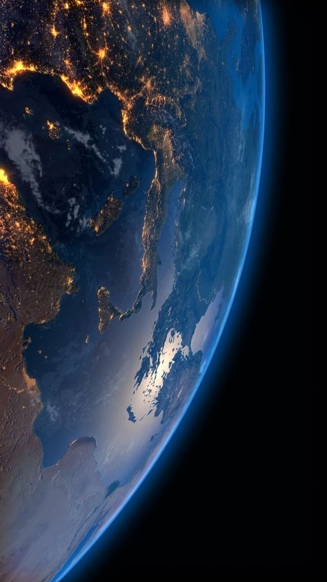 Live wallpapers for smartphone Looped video background for iPhone Earth at night, city lights