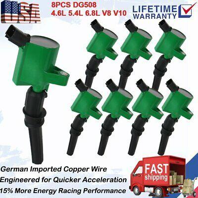 Advertisement Ebay 8 Ignition Coils Pack Dg508 For 2000 2001 2012 Ford F150 Expedition 4 6l 5 4l V8 2012 Ford F150 Ford F150 Ignition Coil