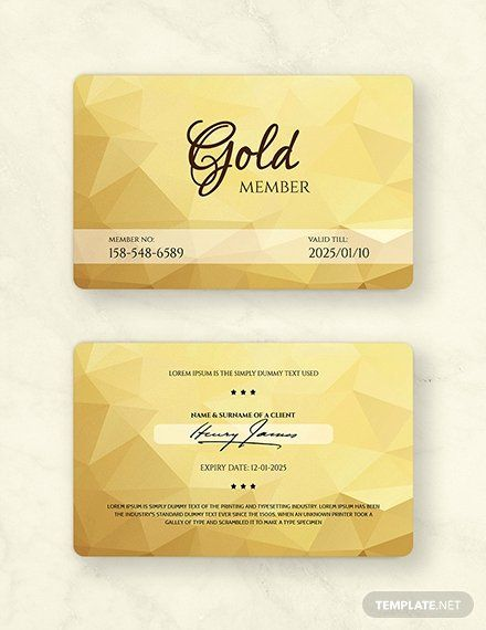 Free Membership Card Template Elegant Free Floral Wedding Place Card Template Download 128 In 2020 Membership Card Member Card Vip Card Design