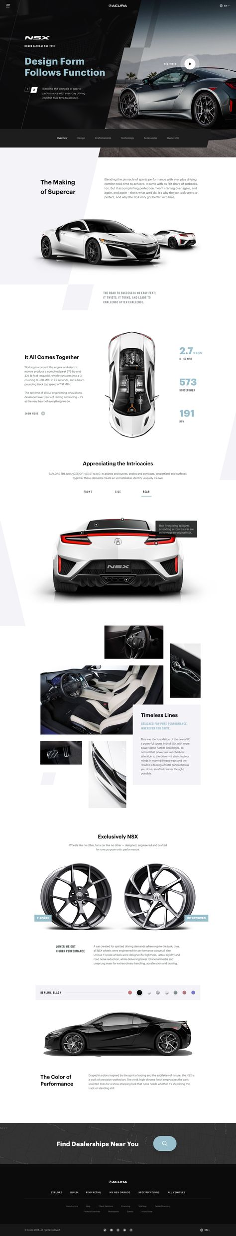 Acura NSX - Automotive Website Concept