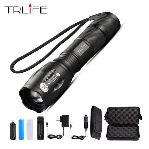 50000LM LED Flashlight Rechargeable T6 torch COB linterna tail magnet Work Light