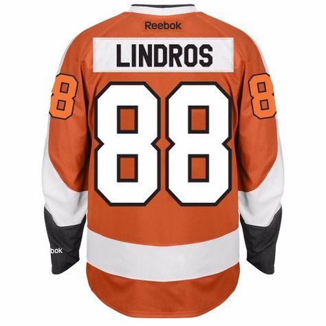 Eric Lindros Philadelphia Flyers NHL Reebok Men s Orange 2016-17  88  Premier Player Jersey (XL) 2c100aef0