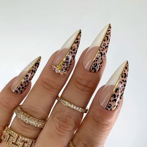 Which set is your favorite? Gel-X nails by . Best Acrylic Nails, Acrylic Nail Designs, Bling Nails, Swag Nails, 3d Nails, Leopard Print Nails, Pink Cheetah Nails, Pointed Nails, Matte Stiletto Nails