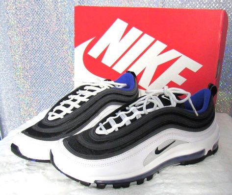 lowest price 82d69 74218 Nike Air Max 97 White Black-Persian Violet Sz 8 Men s  Nike  RunningShoes