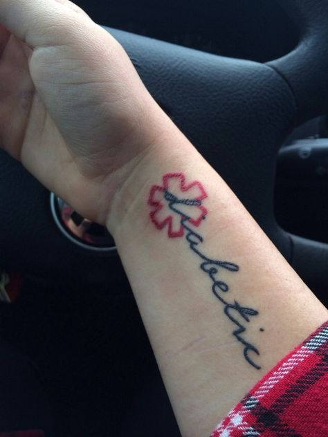 From The Owner Before My Body Decided To Reject The Red Ink Diabeticink Diabetes Tattoo Diabetes Tattoo Medical Alert Tattoo T1d Tattoo