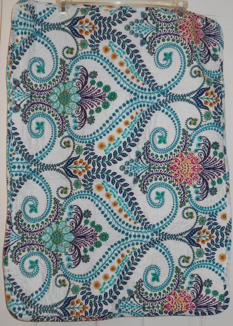 New Set Of 2 Cynthia Rowley Paisley Floral Quilted Pillow Standard Shams 21x27 Cynthiarowley Quilt Quilted Pillow Cynthia Rowley Bedding Quilted Pillow Shams