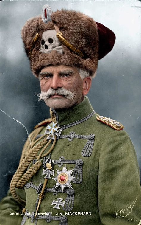 German Officer August Von Mackensen - World War I 1915 (colourised)
