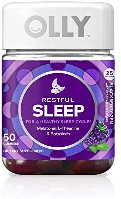 Olly Restful Sleep Gummy Supplement With Melatonin L Theanine