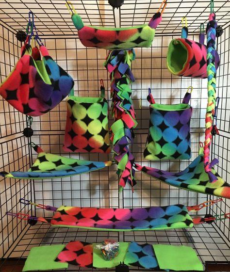 Verrassend 28pc Exclusive Bedding - Sugar Glider Cage Set - Rat toys - Jungle PP-45