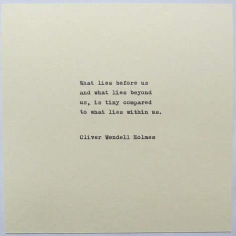 Oliver Wendell Holmes Quote Typed on Typewriter/typewriter quote