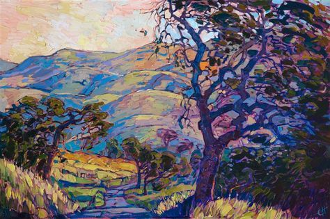 Mariposa Wine Country Oil Painting By Modern Impressionist Artist