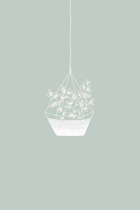Terrarium illustration art print by Bea  Bloom Creative Design Studio - Available on Society6 #artprints