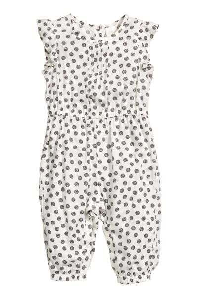 b7ac13a5ec0 Patterned romper suit - Natural white - Kids