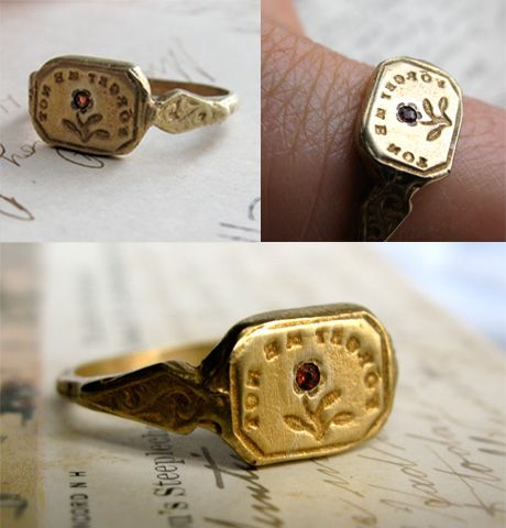 Forget Me Not Ringnotice The Words Are Backwards Because This Ring Is A Seal Or Stamp AWESOMENESS I Want It