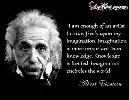 #AlbertEinstein - I am enough of an artist to draw freely upon my... #quotes
