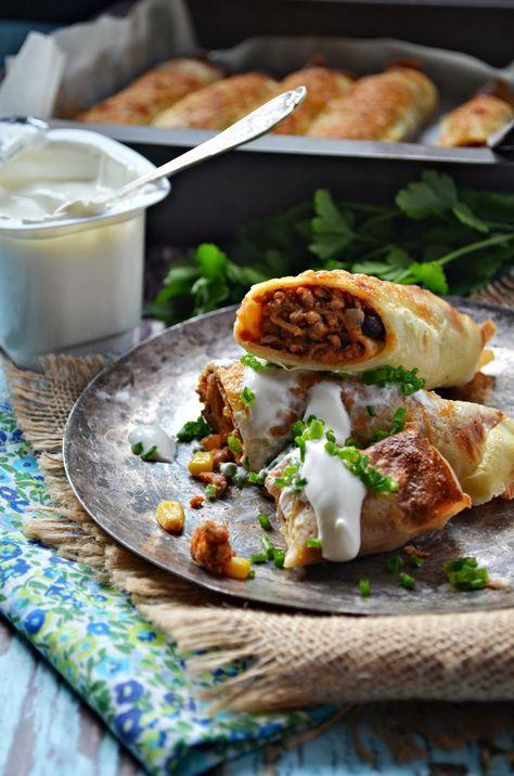 Nalesniki Meksykanskie Zapiekane Kuchnia W Zieleni Appetizer Recipes Classic Food Pork Recipes