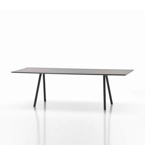 Vitra A Table Tisch Schwarz Gestell Basic Dark Schwarz