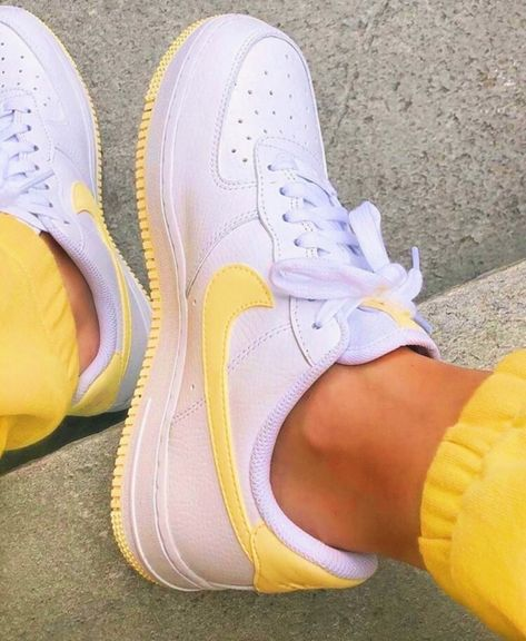 Yellow lemon and white Nike Air Force 1 sneakers. – Yellow lemon and white Nike Air Force 1 sneakers. – – More from my siteYellow lemon and white Nike Air Force 1 sneakers.- Run Baby RunNike Air Force 1 … Moda Sneakers, Shoes Sneakers, Shoes Men, Nike Women Sneakers, Cute Sneakers For Women, Af1 Shoes, Shoes Jordans, Women Nike, Adidas Shoes