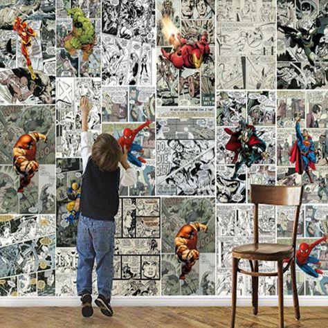 3D Comics Wall Mural - 1 square meters