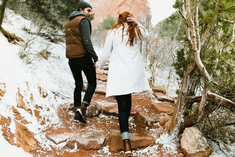 Madison And Joe Garden Of The Gods Winter Engagement
