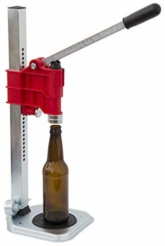 North Mountain Supply Spring Loaded Bench Bottle Capper Red In 2020 Bottle Cappers Home Brewing Beer Plastic Components