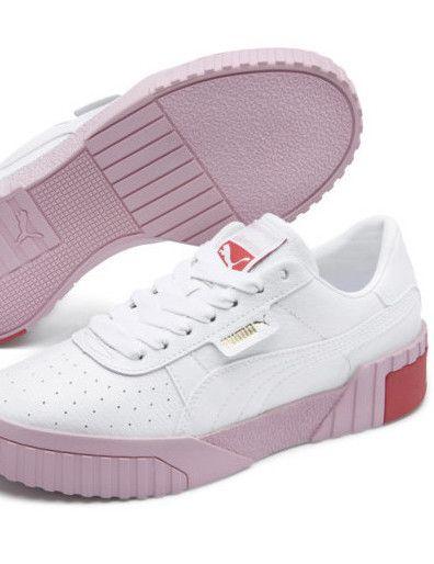 basket puma rose et blanche