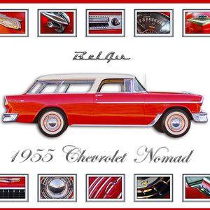 1955 Chevrolet Belair Nomad Art By Jill Reger 1955 Chevrolet Chevrolet Chevy Nomad