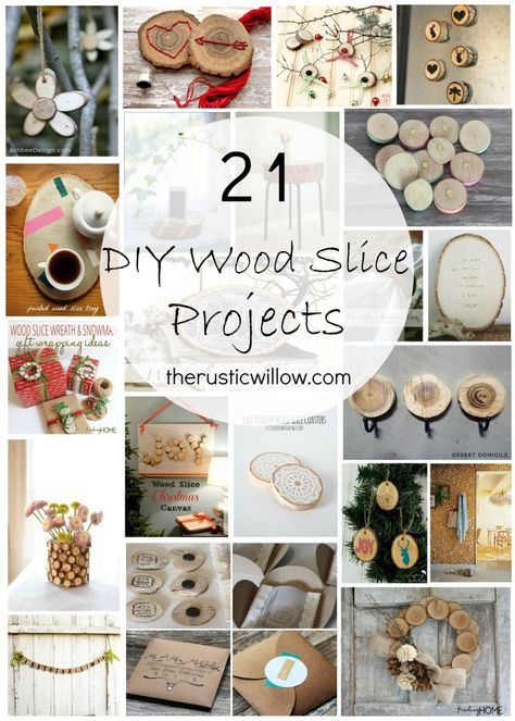 DIY Wood Slice Project Roundup--Project Inspiration