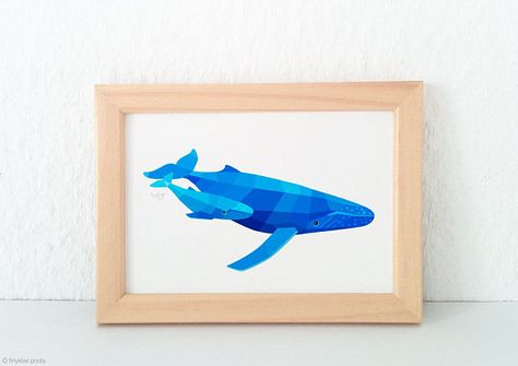 WHALE HUMPBACK MOTHER /& BABY PAIR METAL WALL DECOR