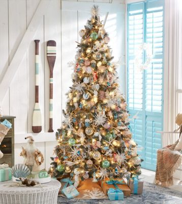 Holiday Lane Seaside Collection Created For Macy S Reviews Christmas Ornaments Home Macy S Christmas Decorations For The Home Beach Christmas Trees Beach Christmas