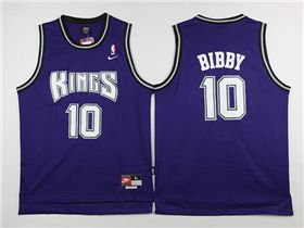 new arrival 68380 8cc61 Sacramento Kings #10 Mike Bibby Throwback Purple Jersey ...