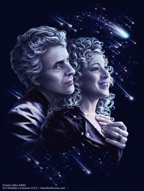 "Doctor Who art print Twelve River: ""Stargazing"" Décimo Doctor, Doctor Who Funny, Doctor Who Fan Art, Twelfth Doctor, Doctor Who Quotes, Doctor Humor, Matt Smith Doctor Who, David Tennant Doctor Who, Dr Who"