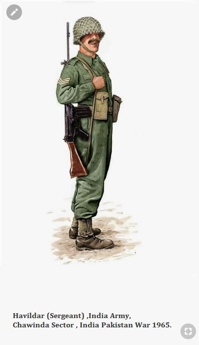 Havildar Sergeant India Army Chawinda Sector India Pakistan War 1965 Army Poster Military Uniforms Illustration Indian Army