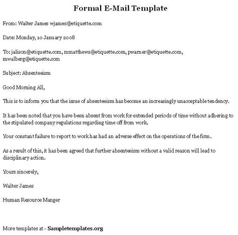 Formal Email Format  Google Search  Business Documents