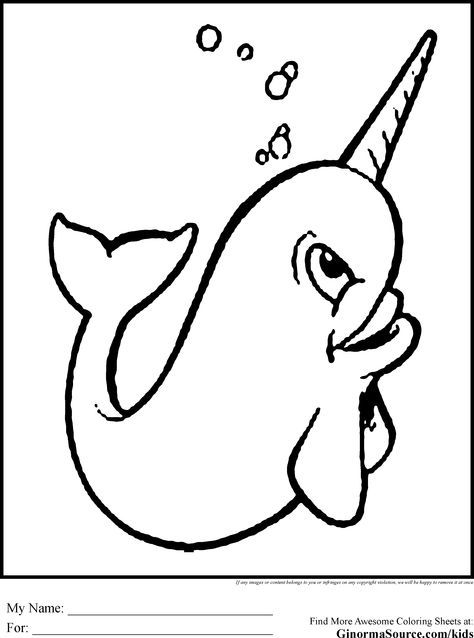 Narwahl Unicorn Coloring Pages Whale Coloring Pages Coloring Pages