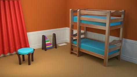 Blender Modeling A Cartoon Stool Part 3 Bunk Beds