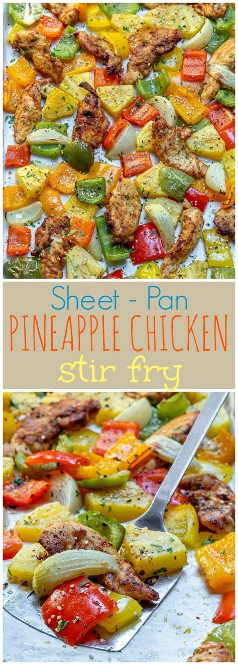 Sheet Pan Hawaiian Pineapple Chicken for Quick  Clean Weeknight Dinner! | Clean Food Crush