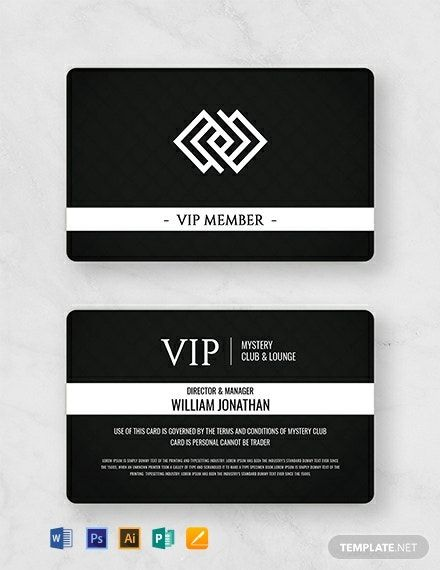 Instantly Download Free Club Member Card Template Sample Example In Microsoft Word Doc Adobe Photoshop Psd Adobe Ind Member Card Membership Card Cards