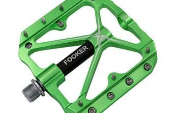 Green 9//16 Resin Wide Platform Fixie Road MTB Mountain BMX Bike Bicycle Pedals