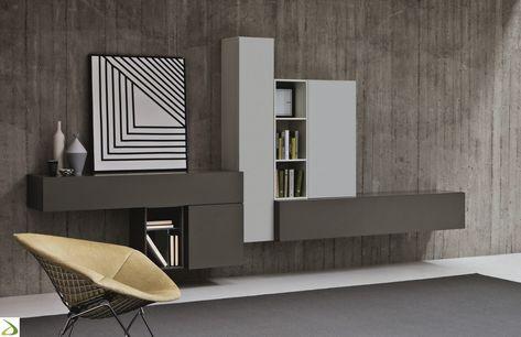 Mobile soggiorno sospeso Alen | Arredo Design Online | Soggiorni ...