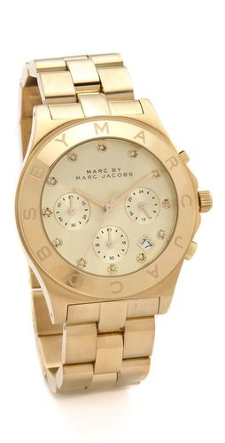 large blade chrono watch / marc by marc jacobs