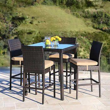 Belmont 5 Piece Bar Set Outdoor Furniture Sets Outdoor Bar
