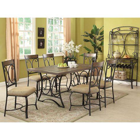 Amazing Oakwood Dining Set Boscovs Metal Dining Table Oak Camellatalisay Diy Chair Ideas Camellatalisaycom
